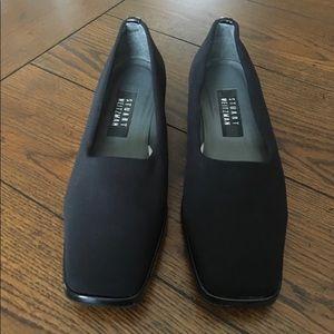 Stuart Weitzman Black Slip-on Shoes